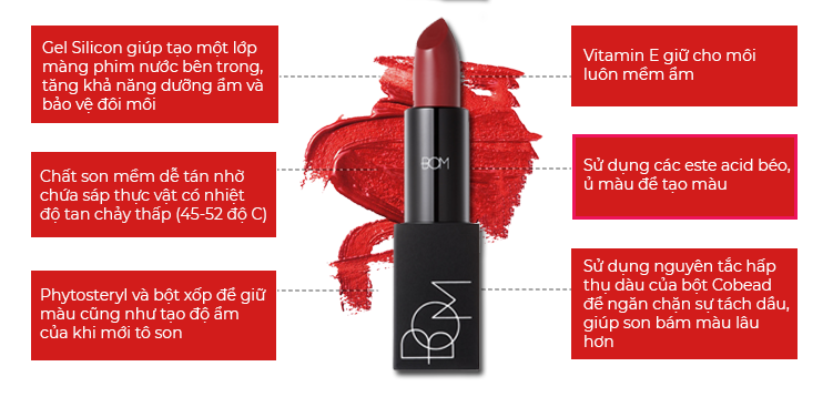Son Lì BOM My Lipstick #807 - My Deep Red