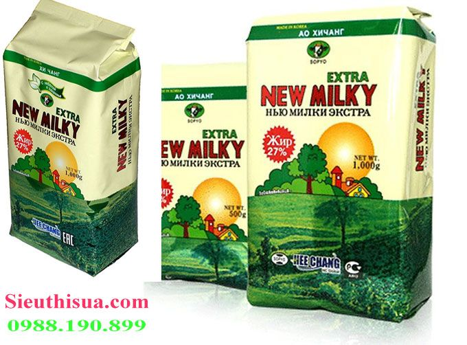 Sữa béo nga newmilky là sữa nguyên kem hay sữa tách kem