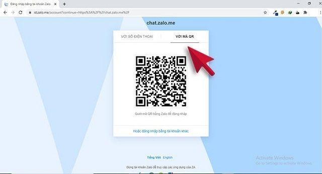 Tải zalo và đăng nhập bằng mã QR