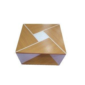 ترابيزة مودرن مربعة خشب كونتر80 سم