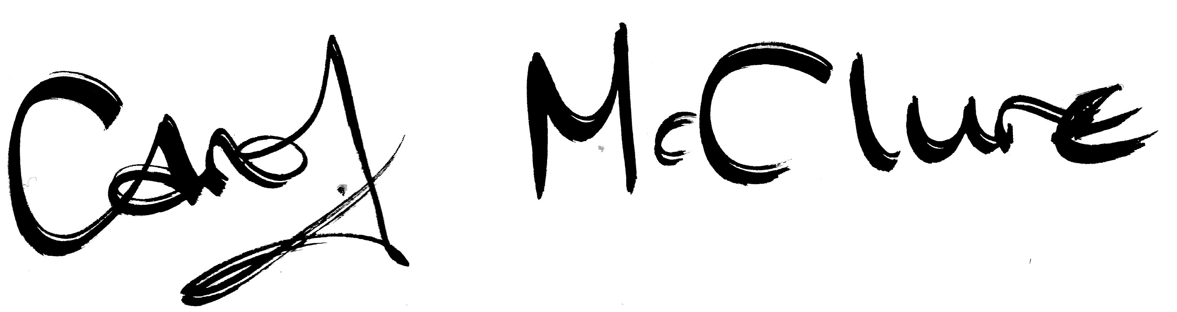 Carol McClure's Signature