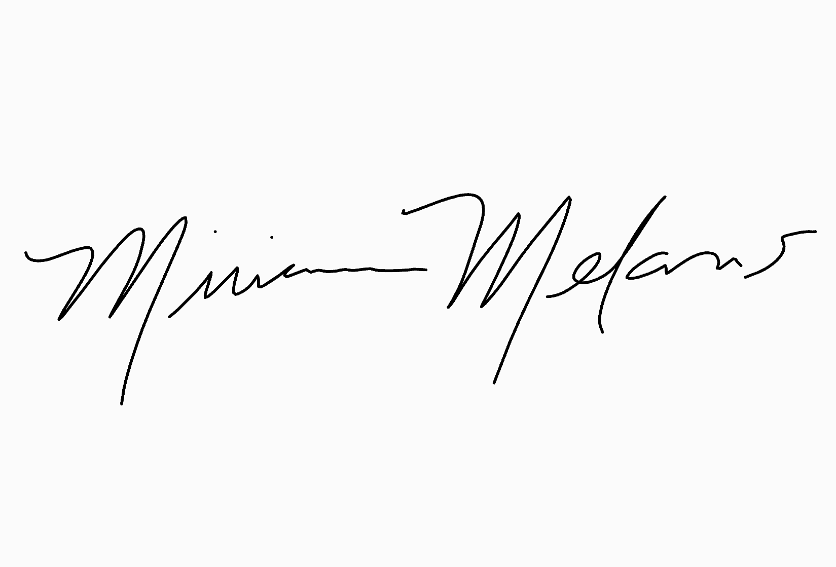Miriam Melans's Signature