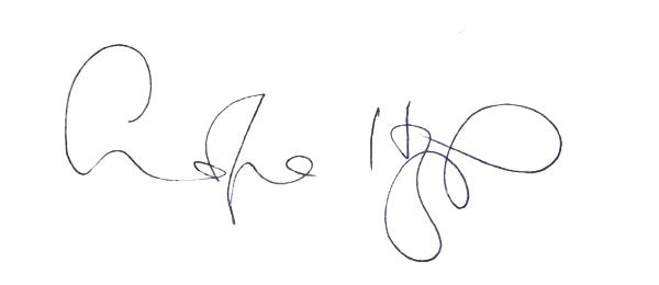 Corina Hazlett's Signature