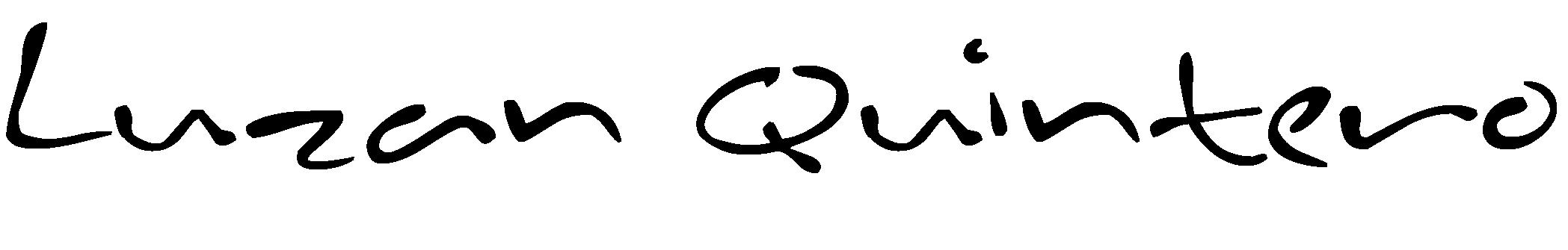 luzan quintero's Signature