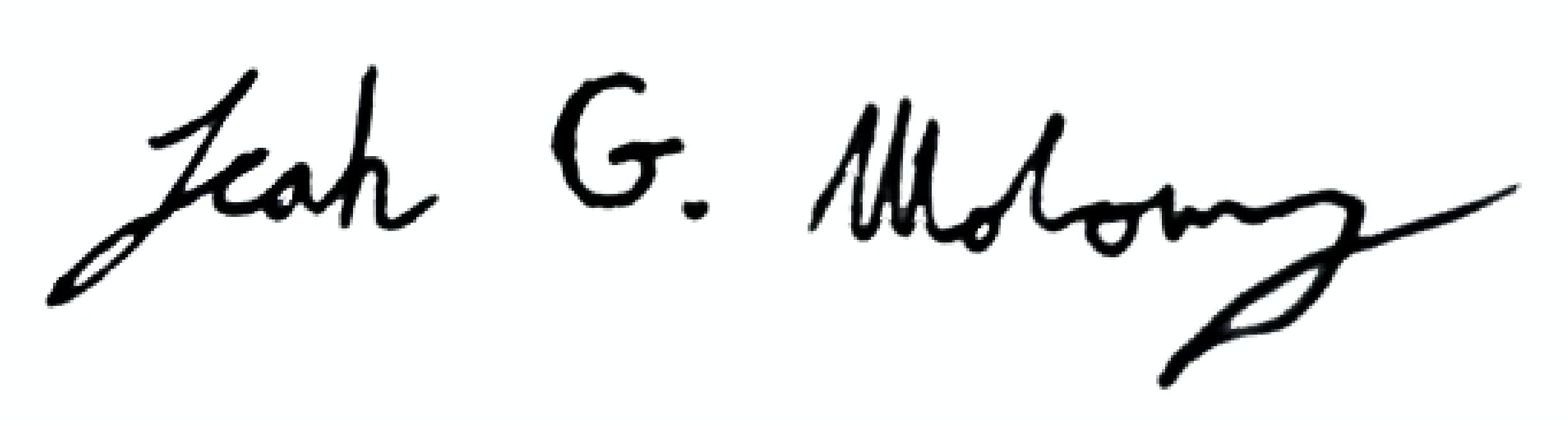 Leah Moloney's Signature