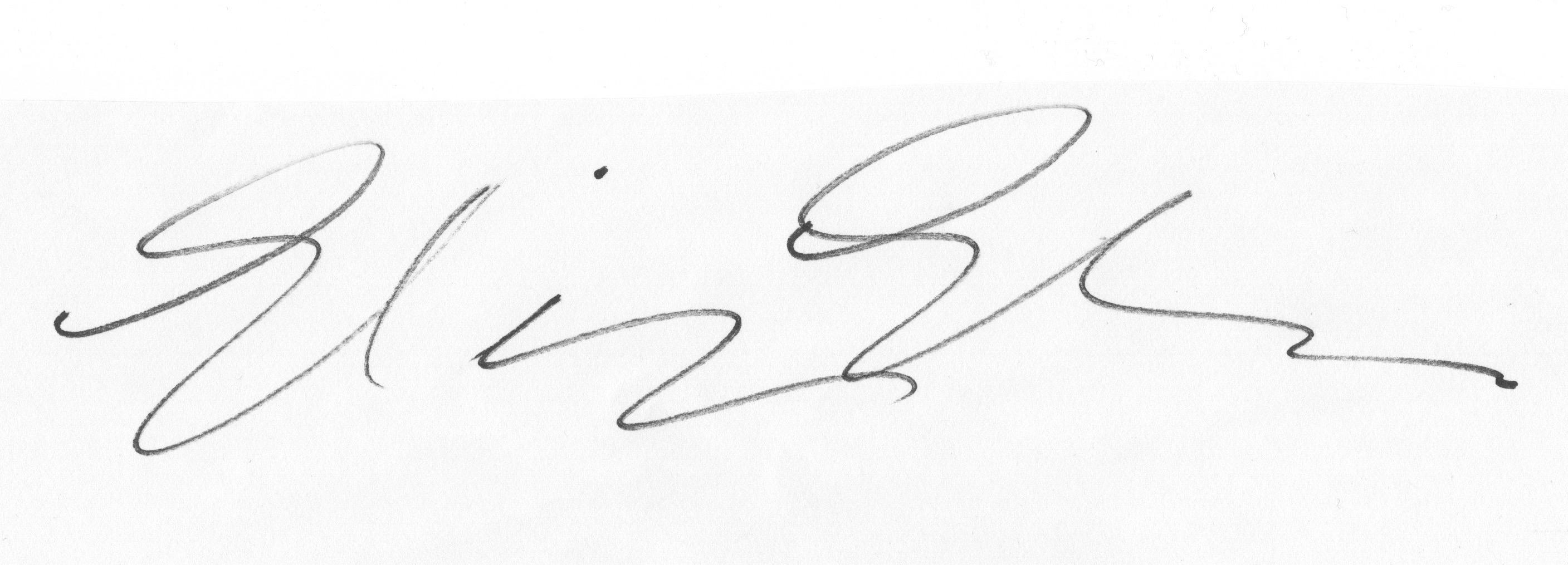 Elizabeth Elder's Signature