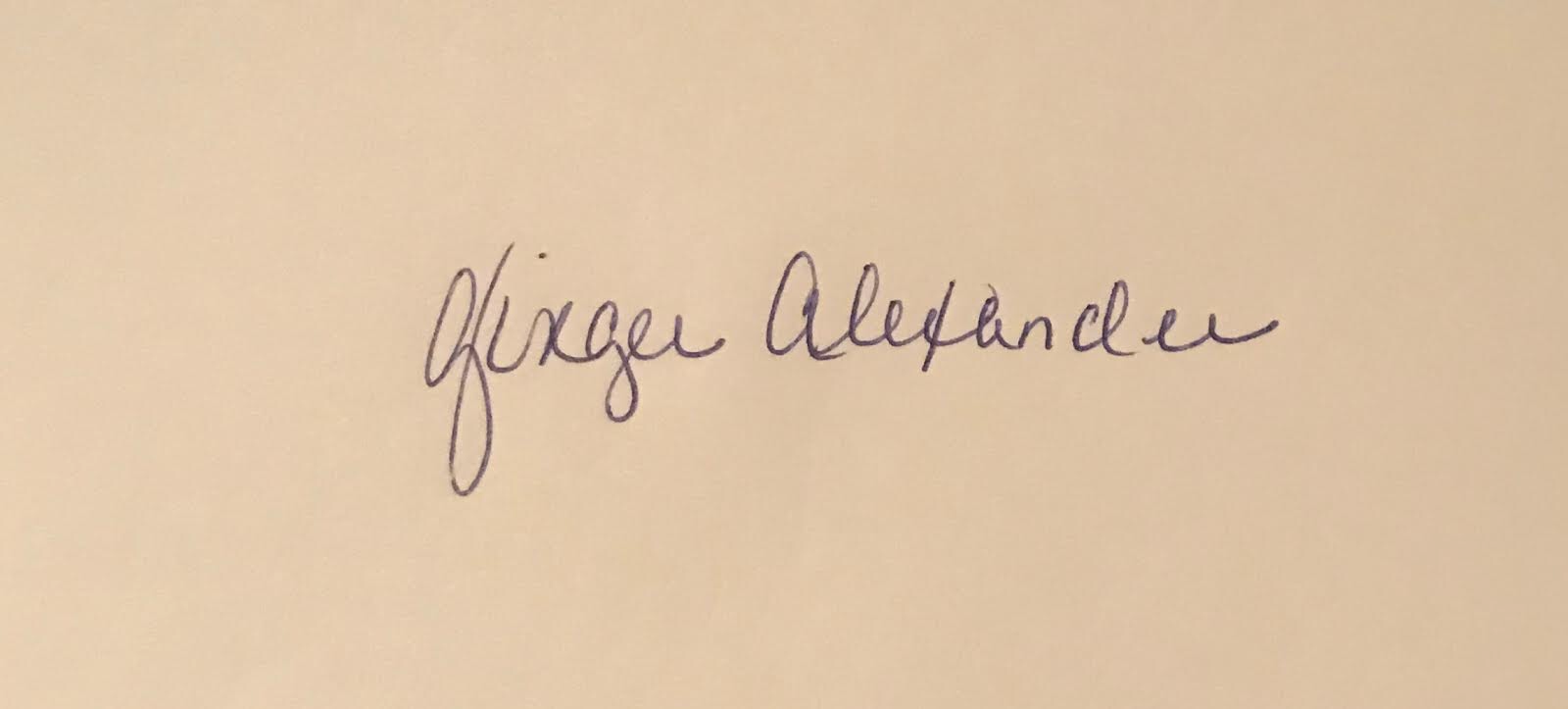 Ginger Alexander's Signature
