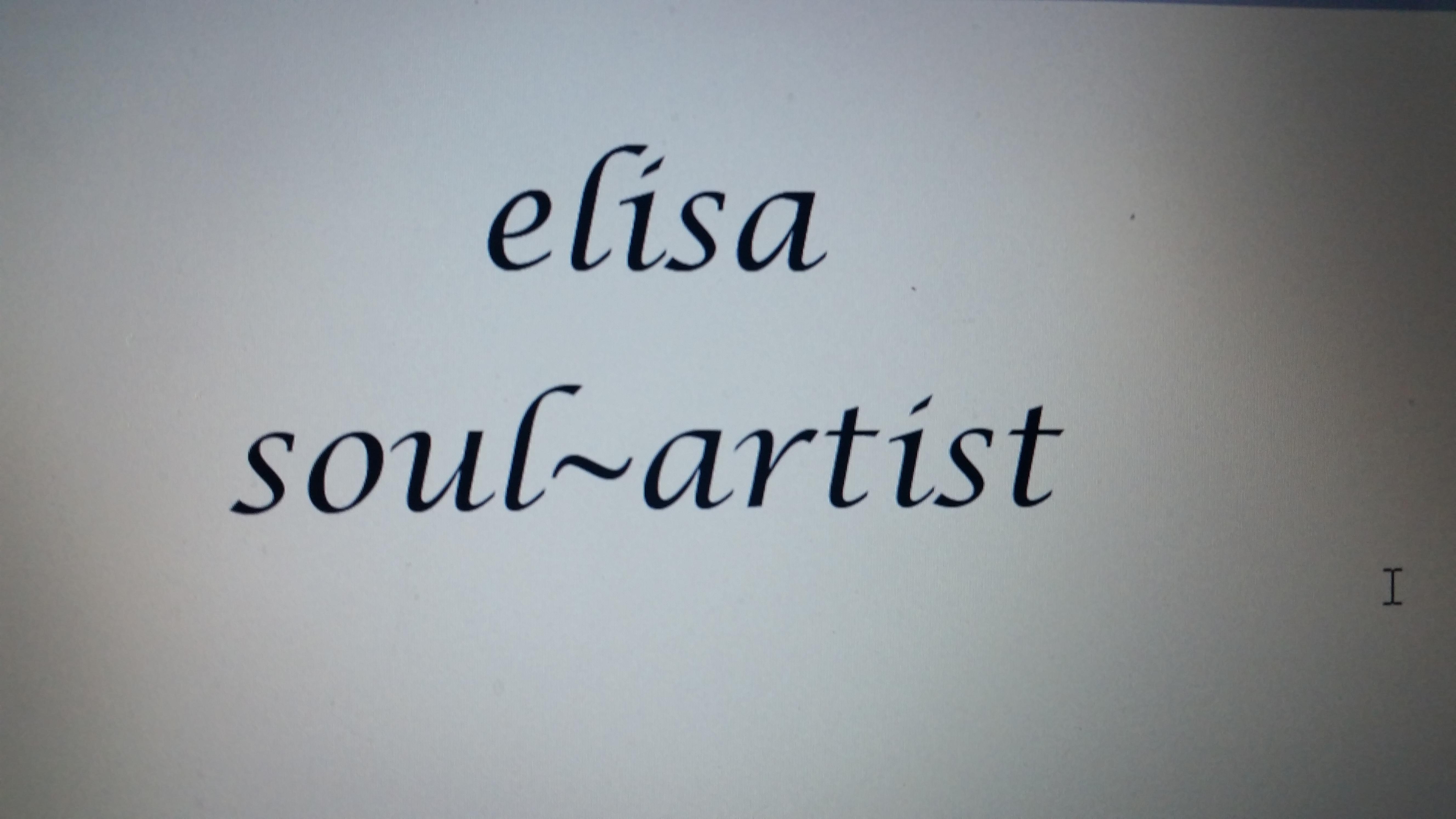 Elisa Soul ~ Artist's Signature