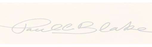 Paul C. Blake's Signature