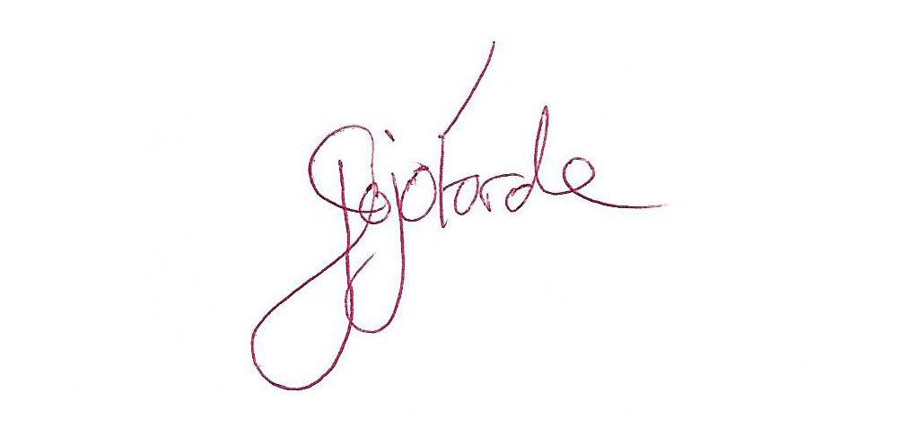 Joanne Forde's Signature