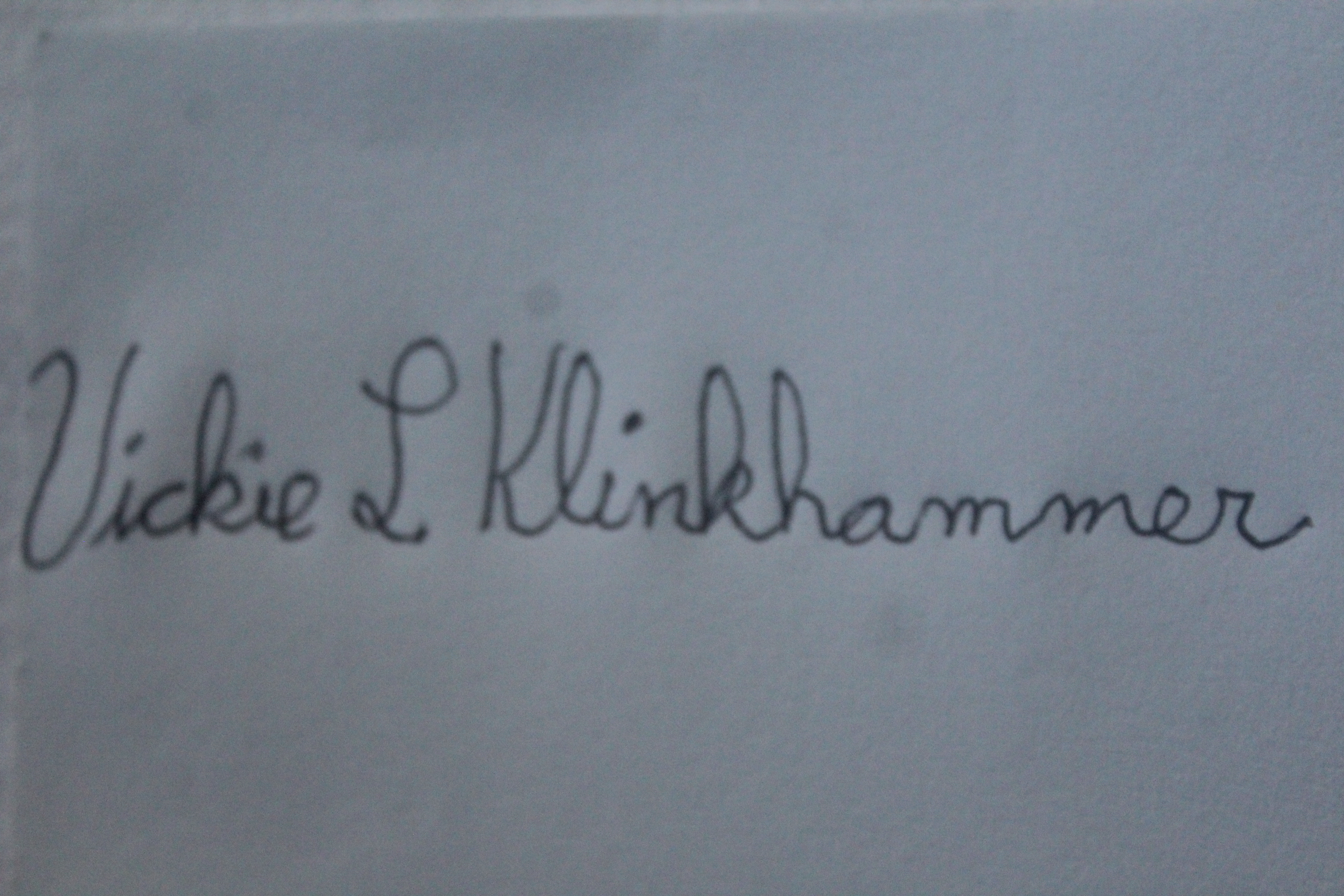 Vickie Klinkhammer's Signature