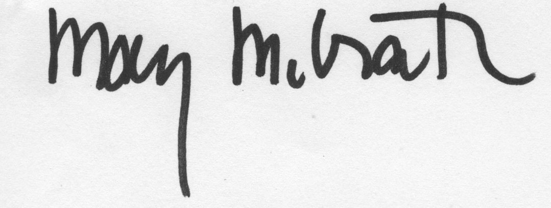 Mary McGrath's Signature