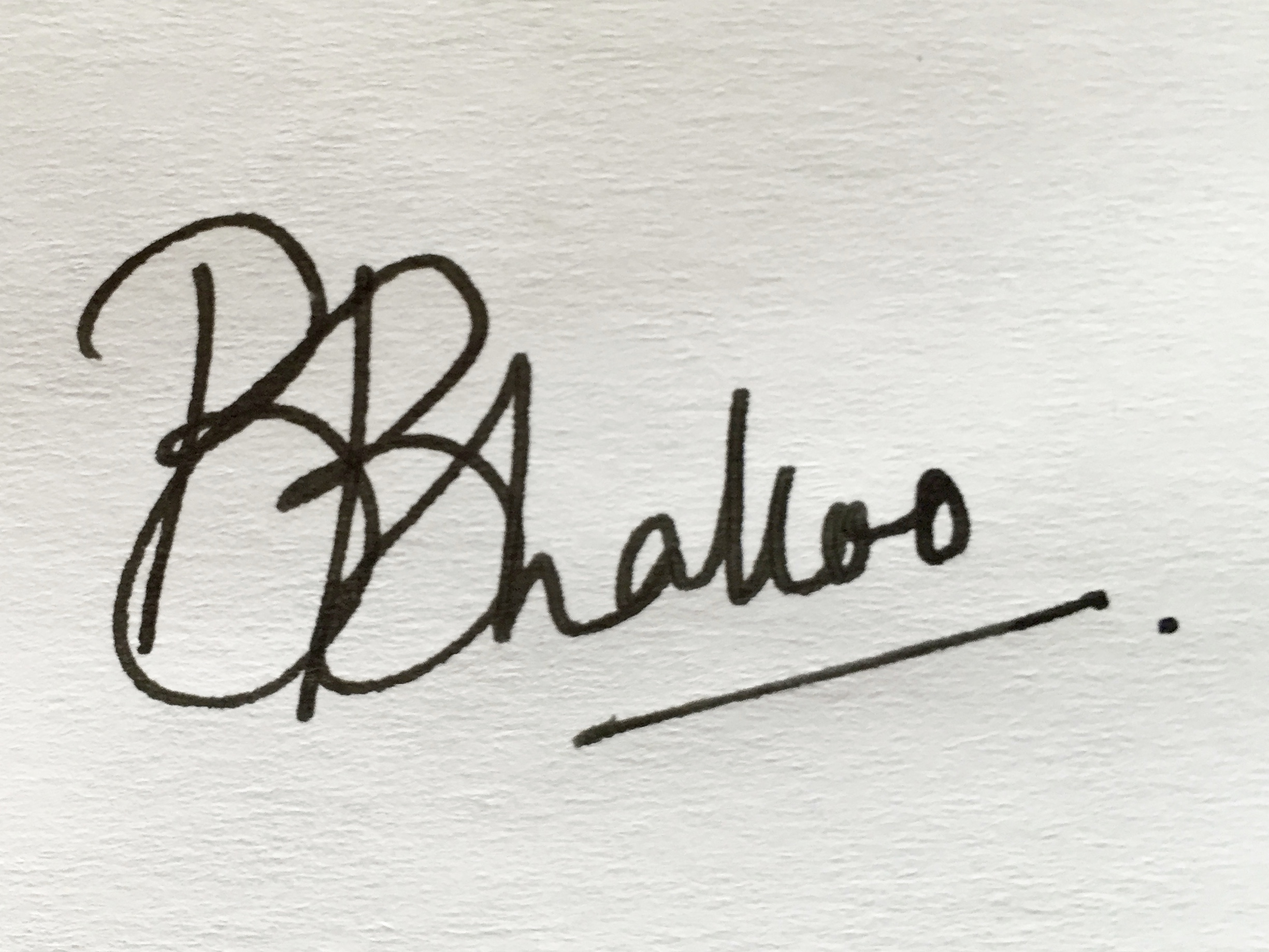 Bhavni Bhakoo's Signature