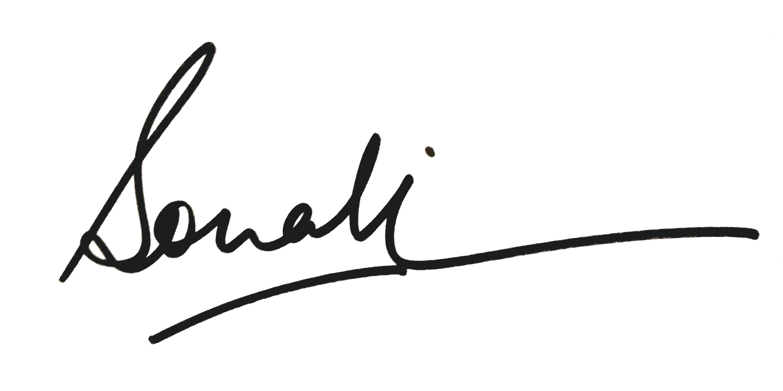 Sonali Kukreja's Signature