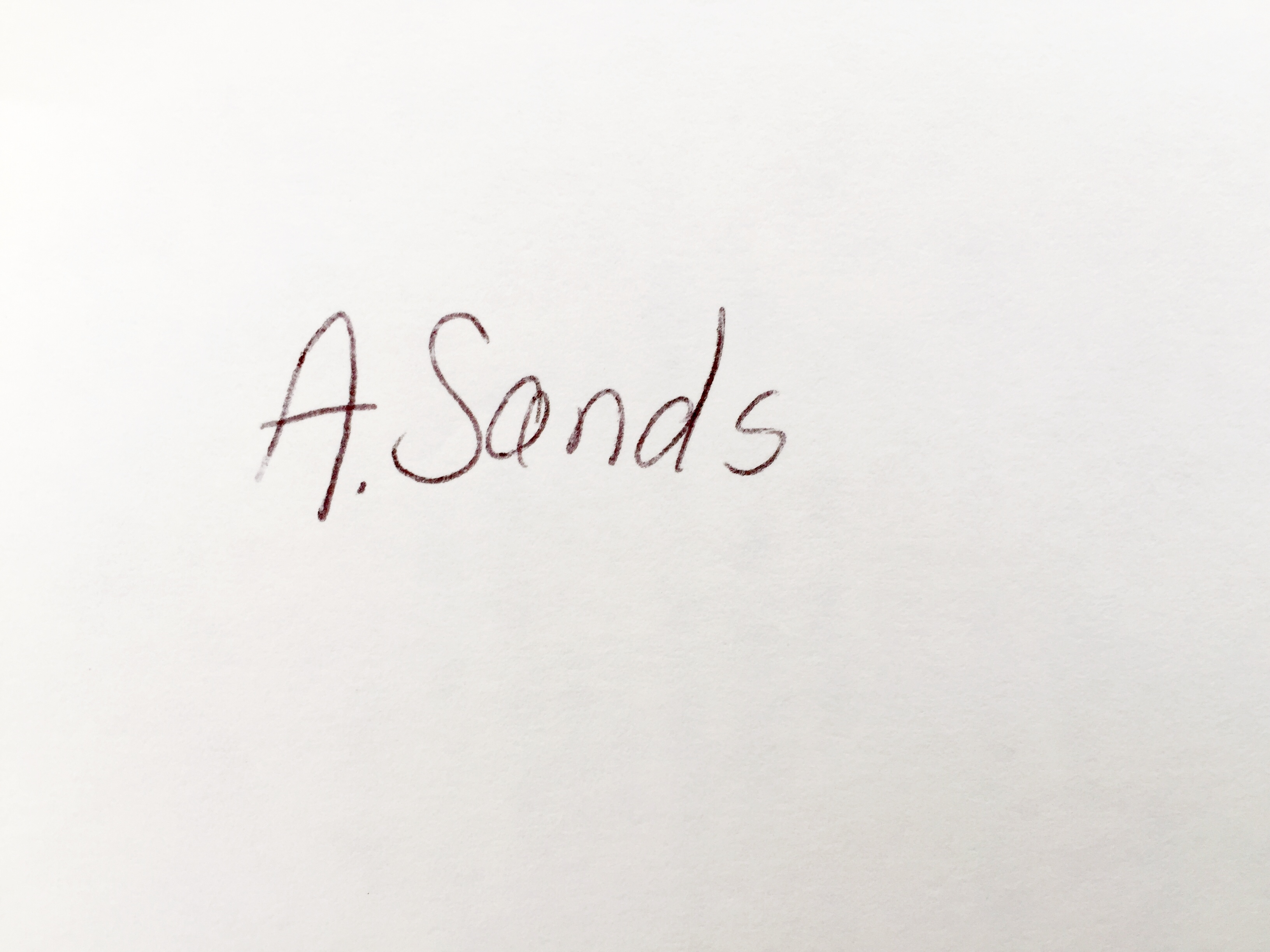 Anne Sands's Signature