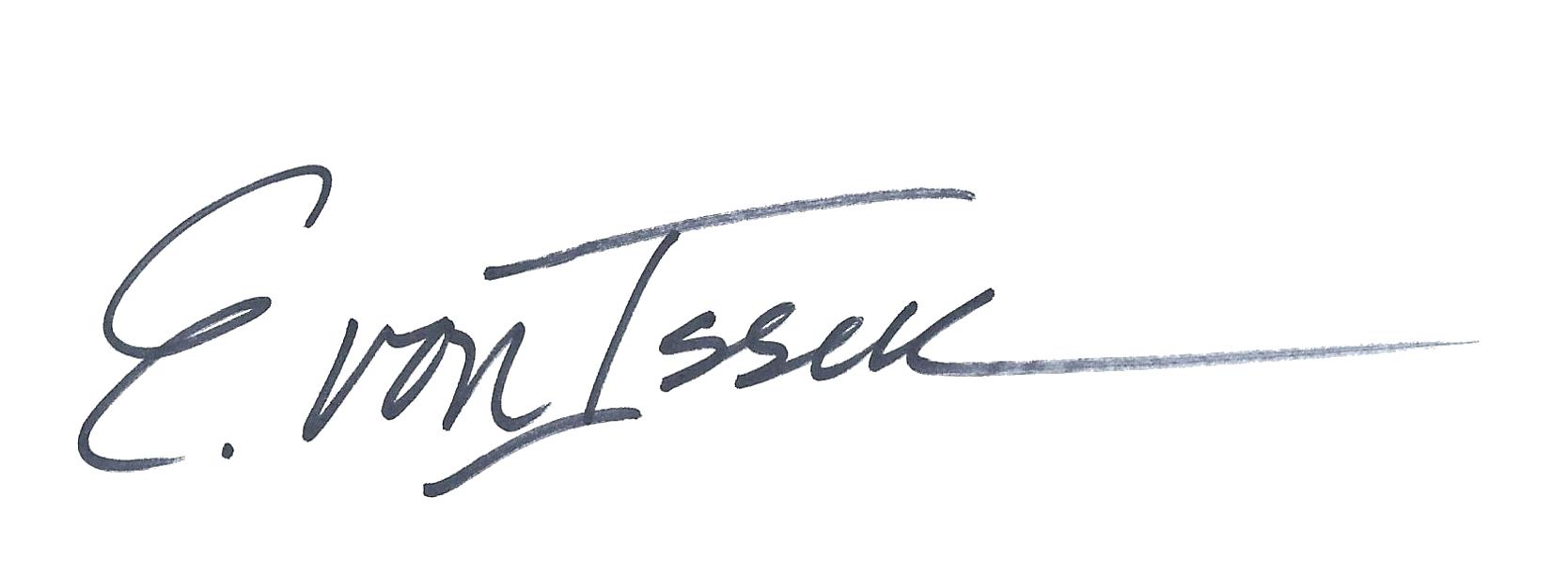 Elizabeth von Isser's Signature