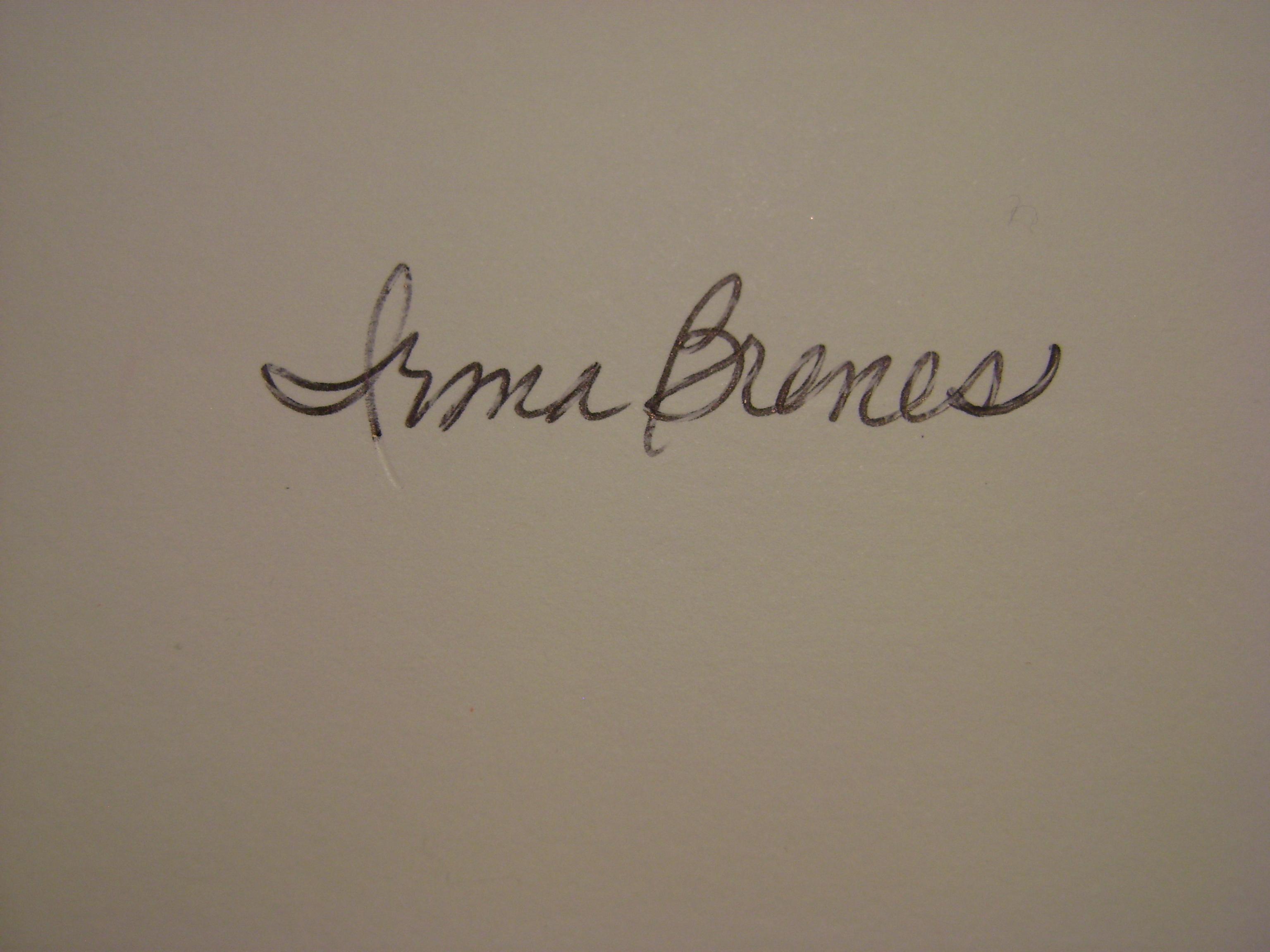 Irma Brenes's Signature
