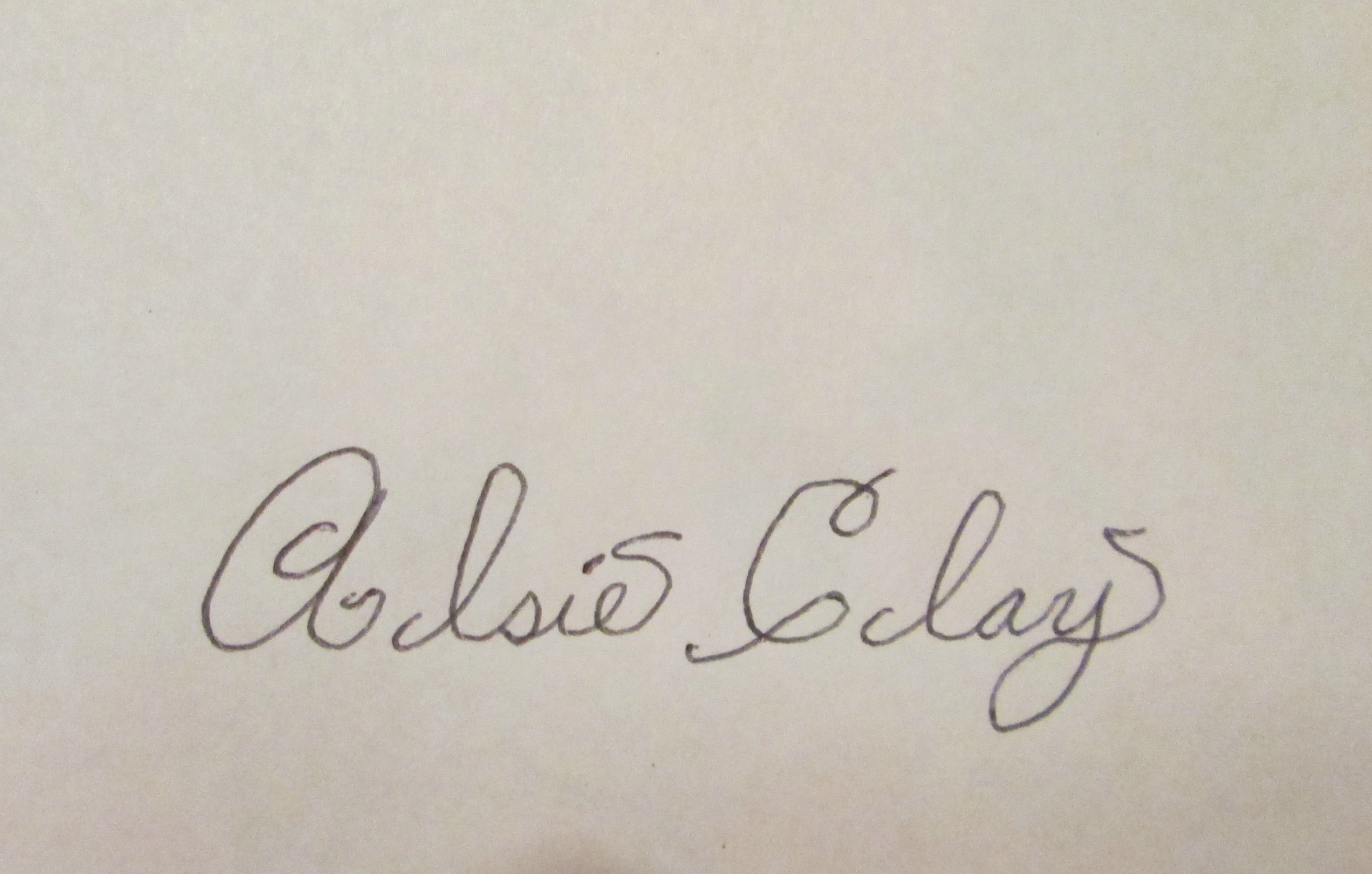 Alsie Clay's Signature