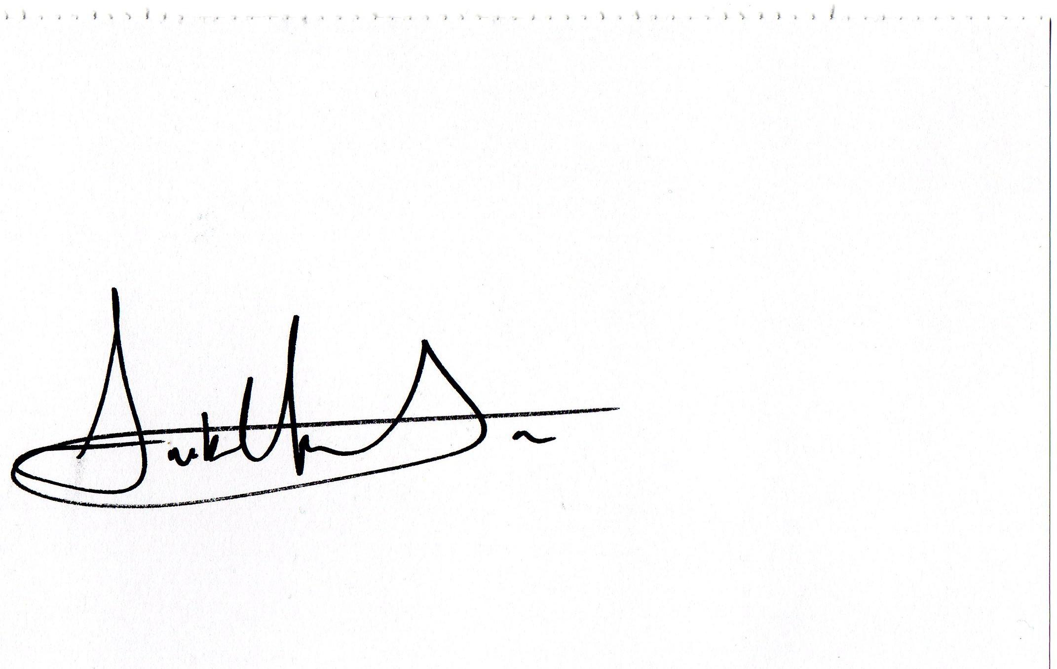 Amber Horton's Signature