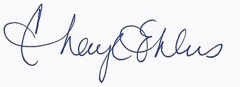 Cheryl Ehlers's Signature