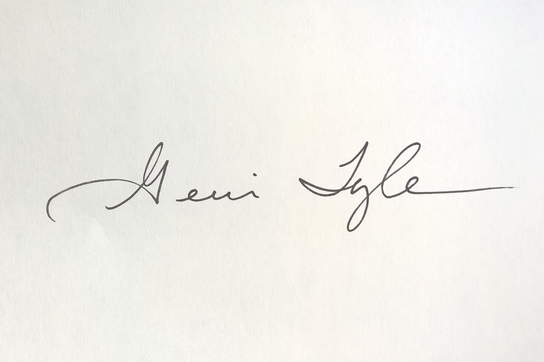 Gerri Tyler's Signature