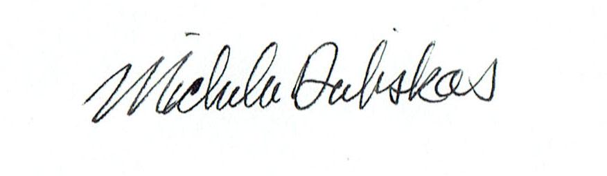Michelle Dubiskas's Signature