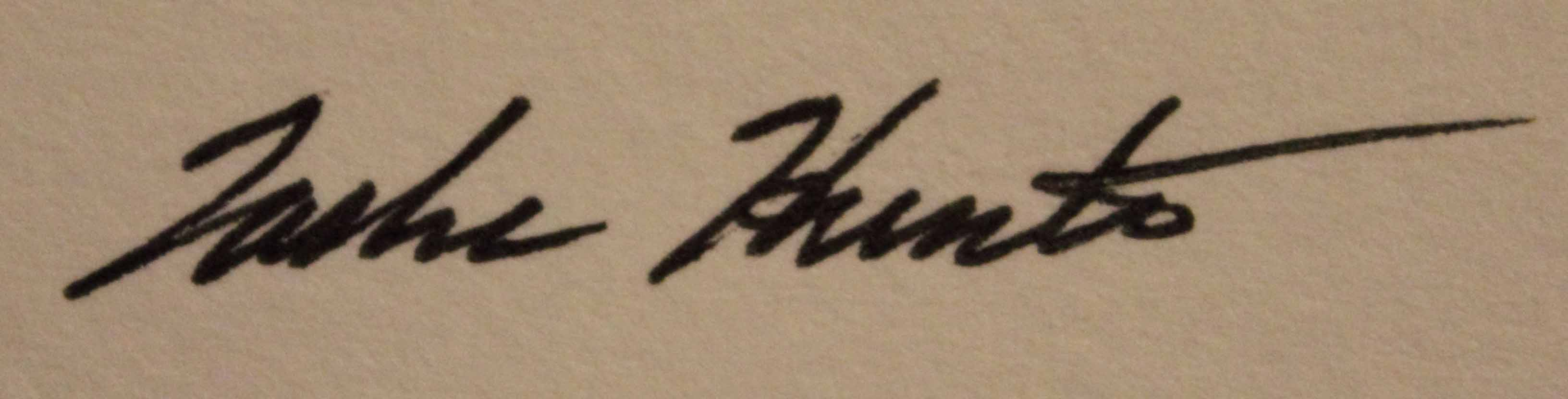 Tasha Hunter's Signature