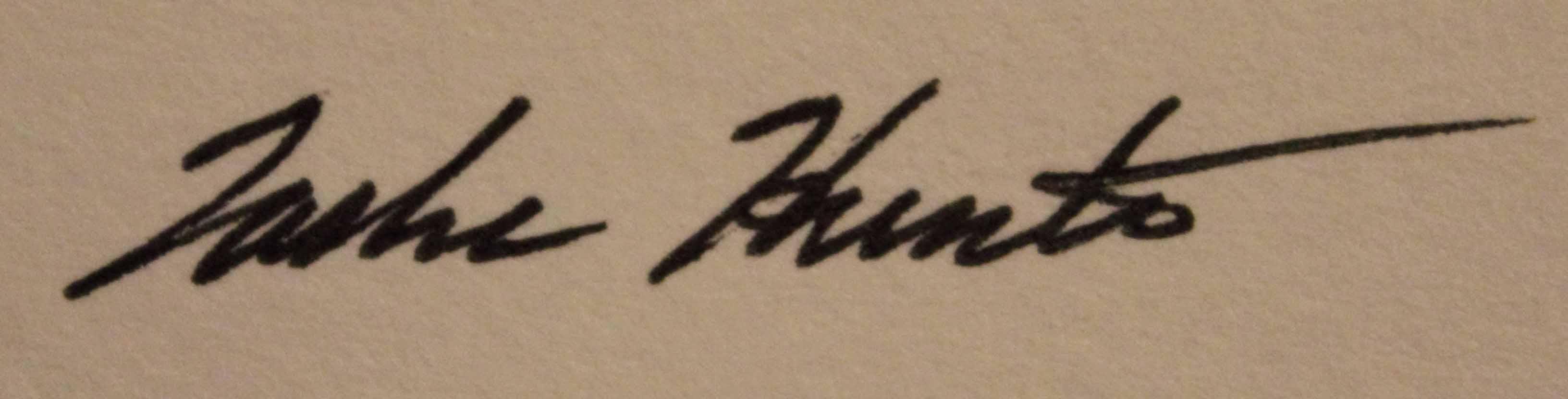 Tasha Hunter's Signature