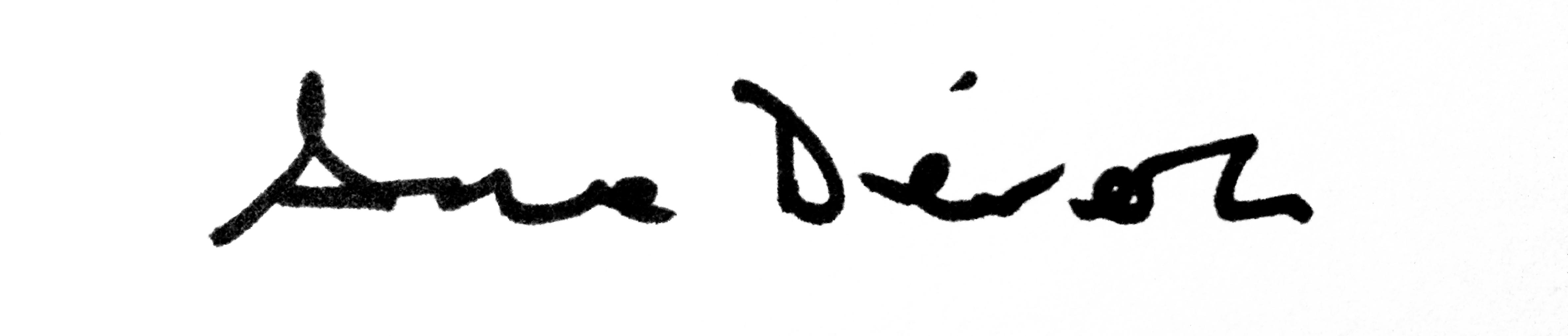 Ana Dévora's Signature