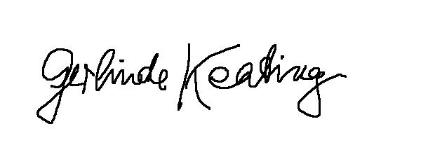 GERLINDE KEATING's Signature