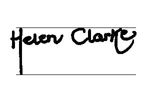 Helen Clarke's Signature