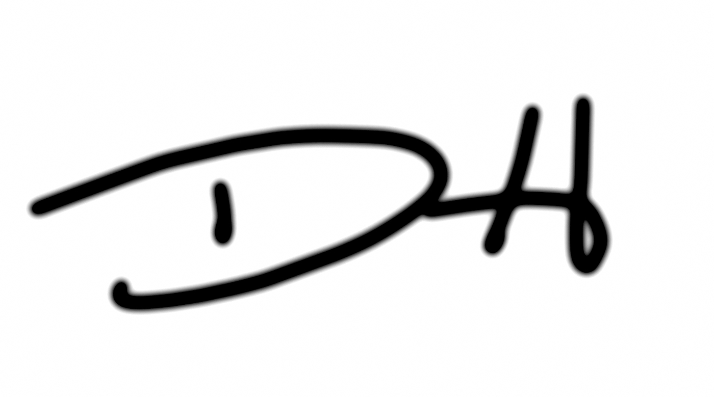 David f Horton's Signature