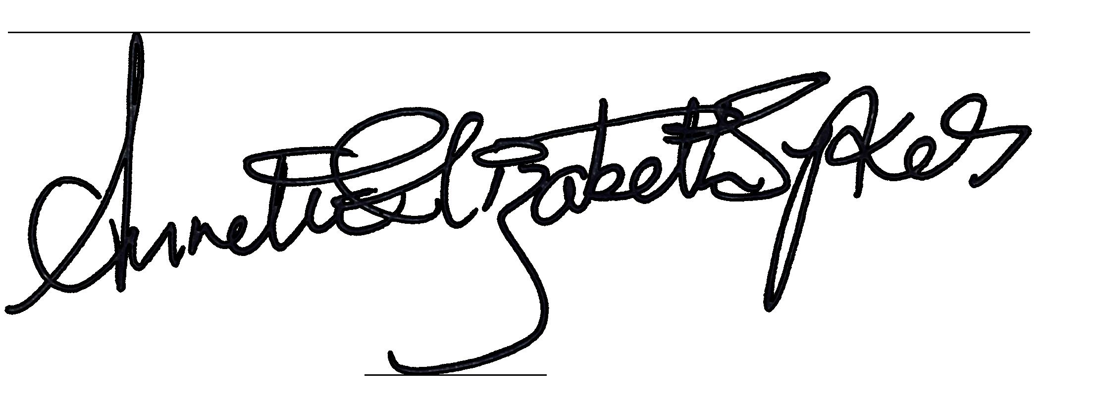 Annette Elizabeth Sykes's Signature