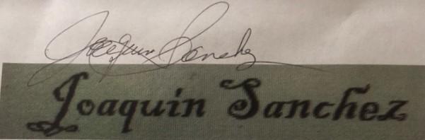 Joaquin Sanchez's Signature