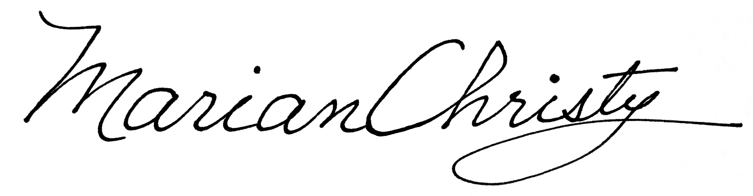 Marian Christy's Signature
