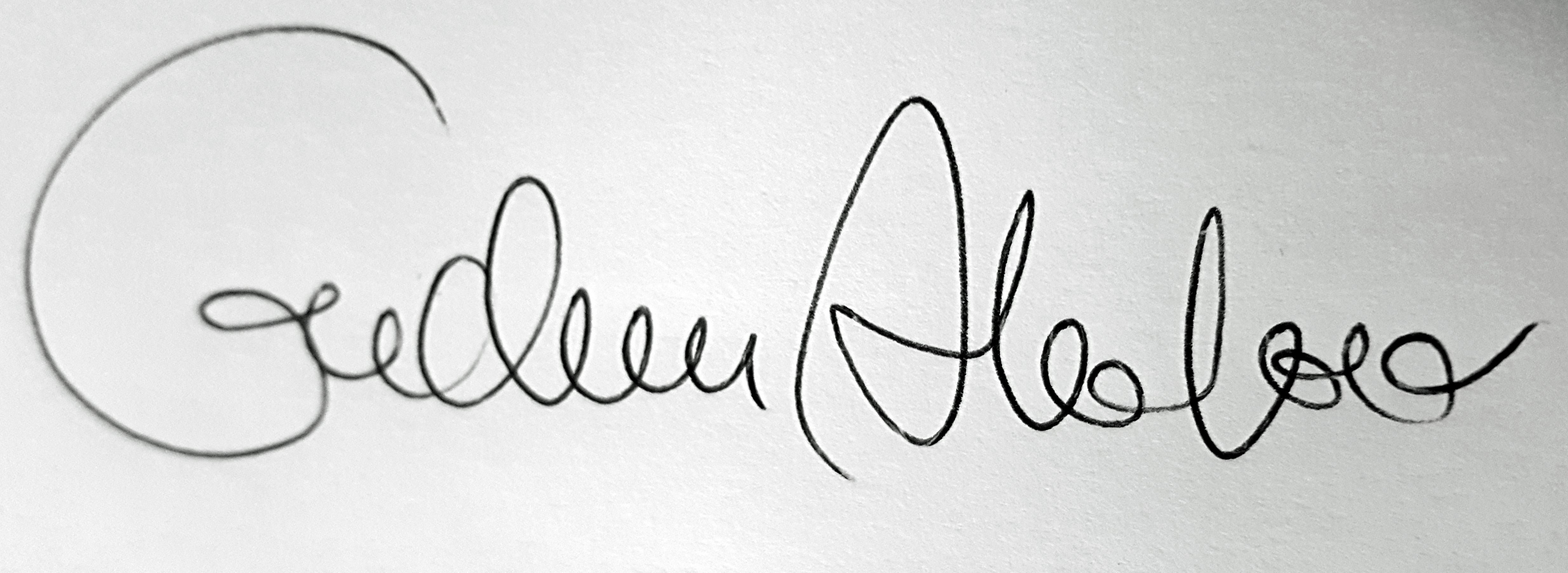 Gudrun Alvebro's Signature