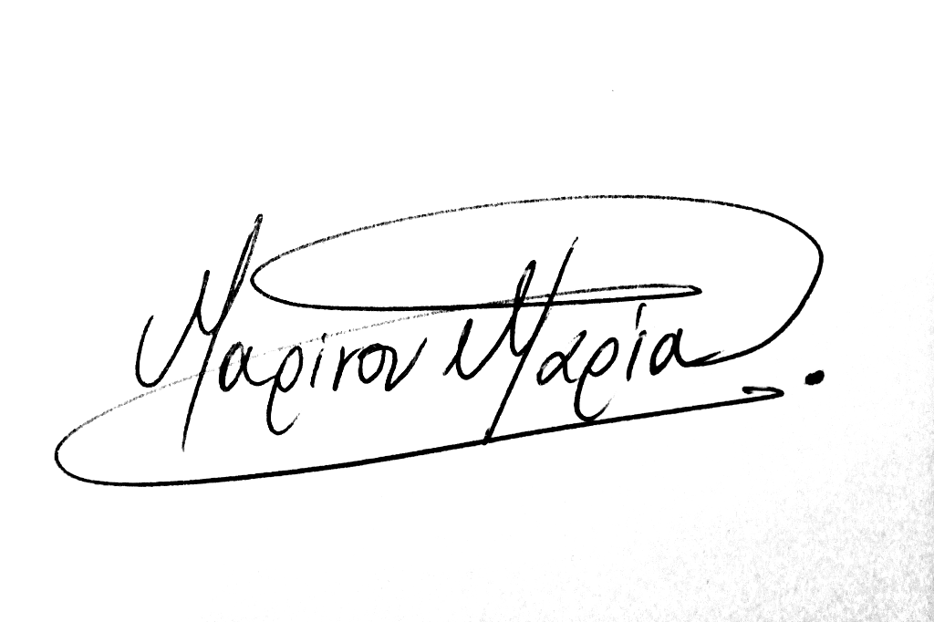 Maria Marinou's Signature