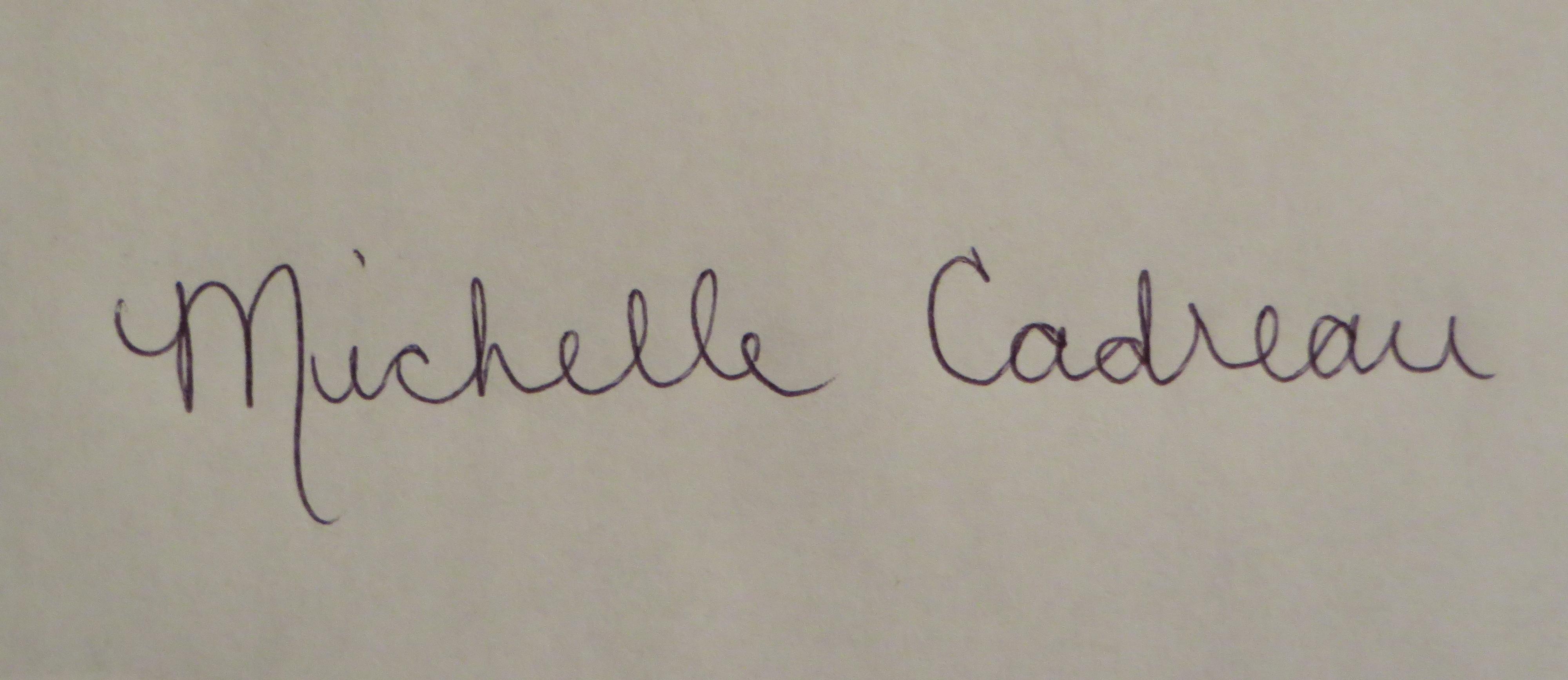 Michelle Cadreau's Signature