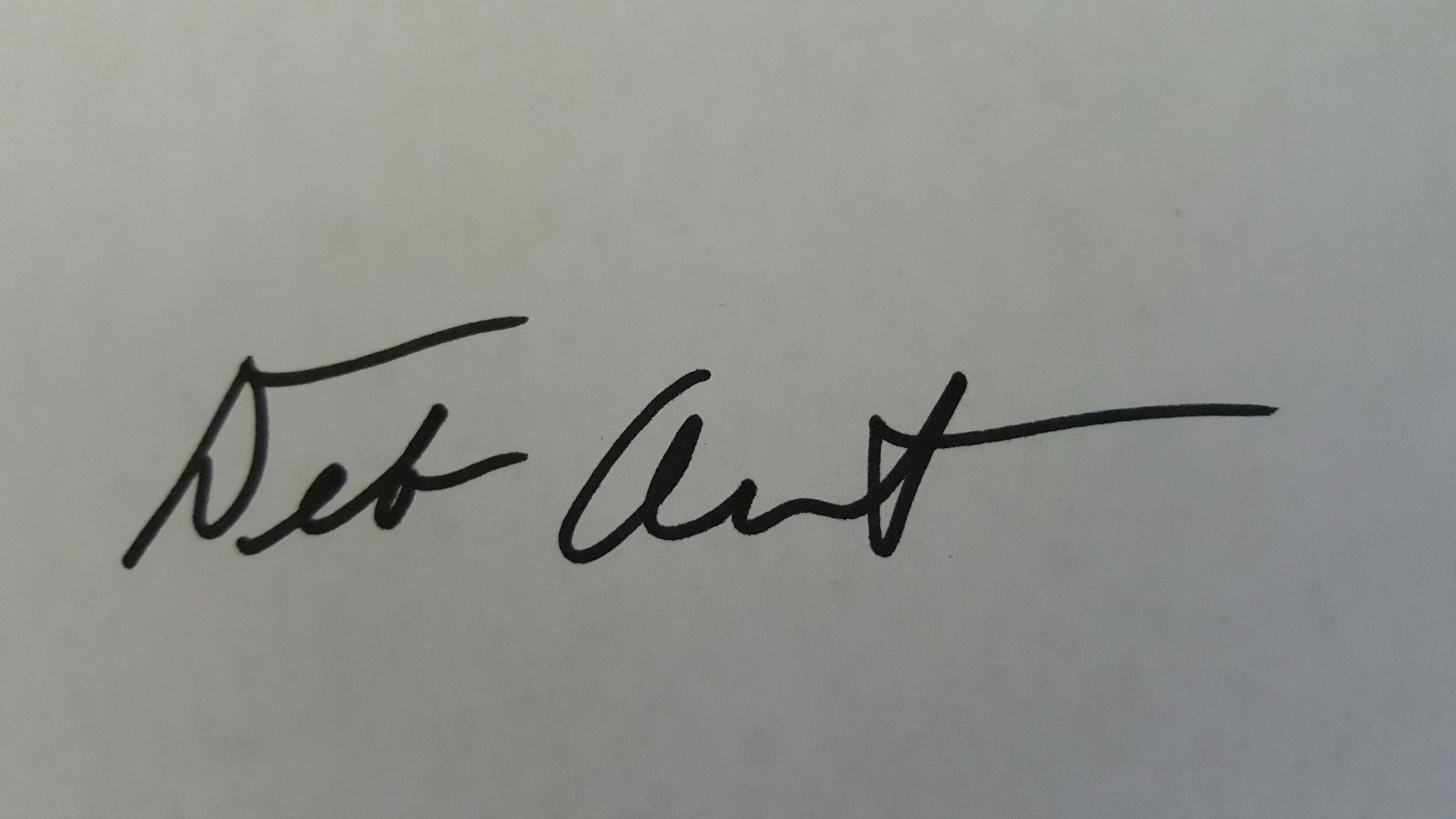 Deborah Arndt's Signature