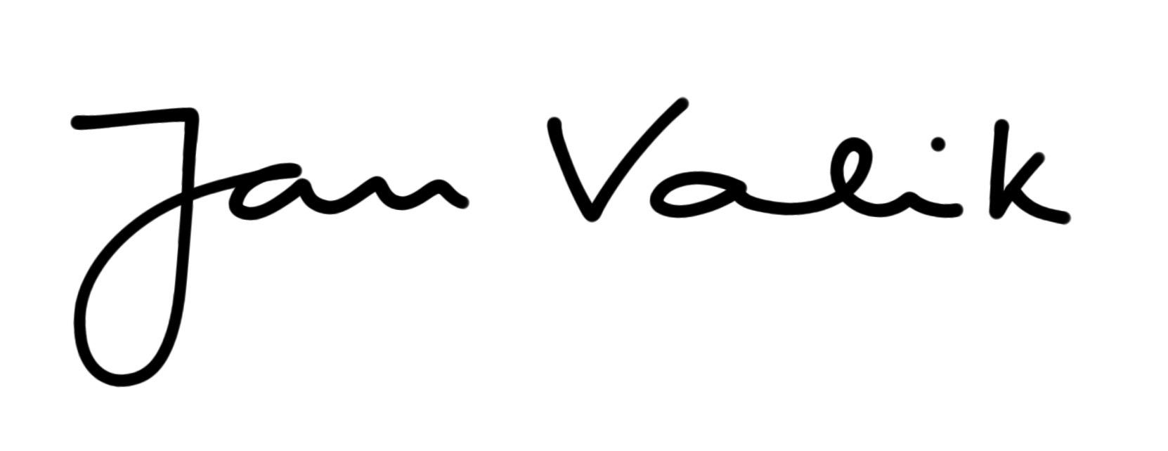Jan  Valik's Signature