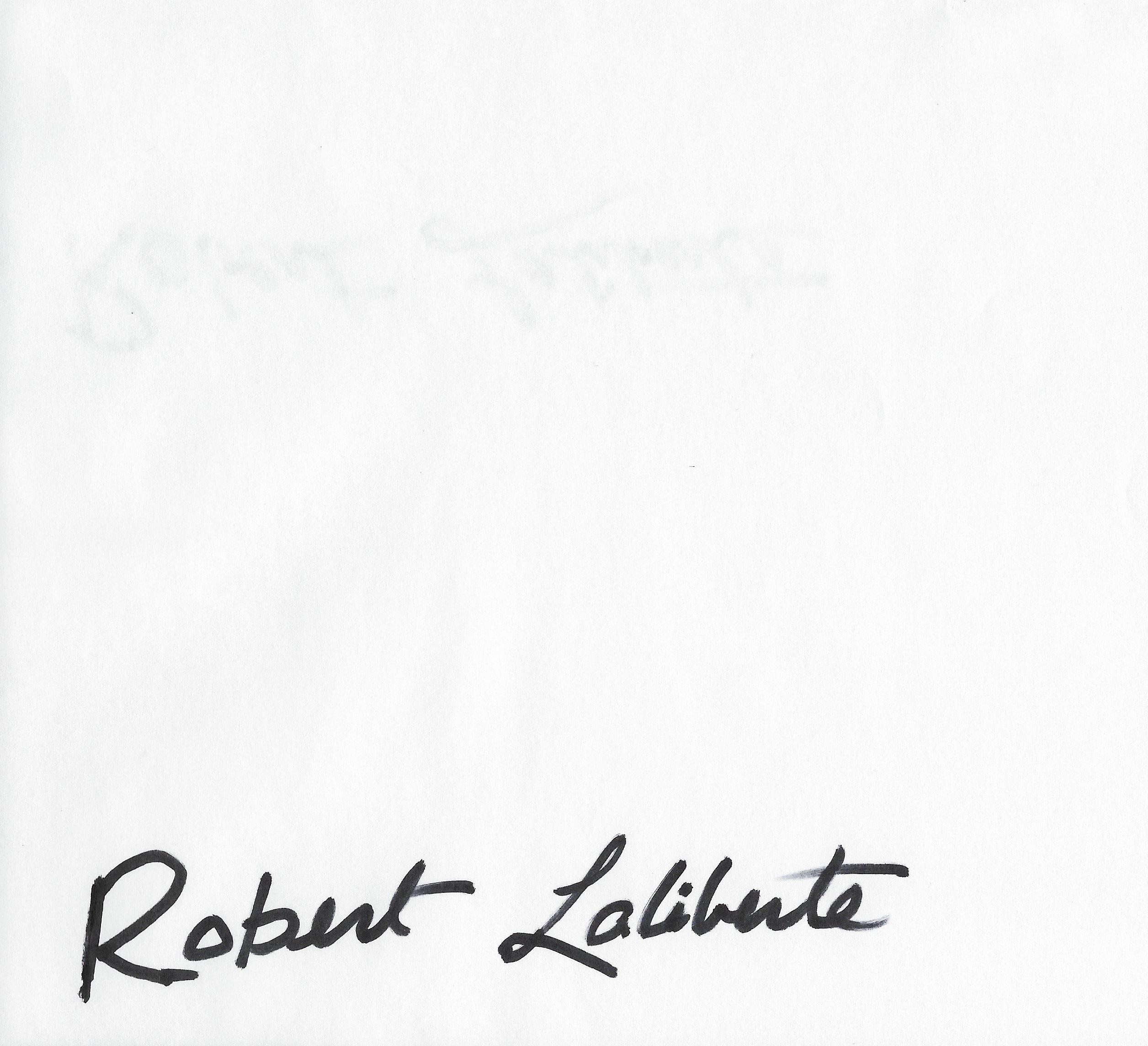 Robert laliberte's Signature