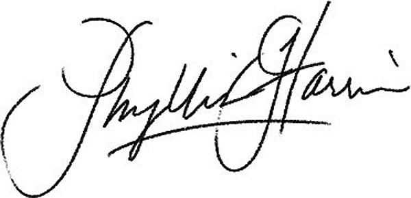 Phyllis Harris's Signature