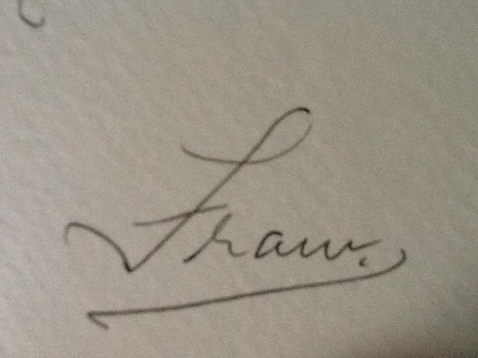 Fram Cama's Signature