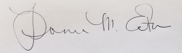 Donna  Eaton's Signature