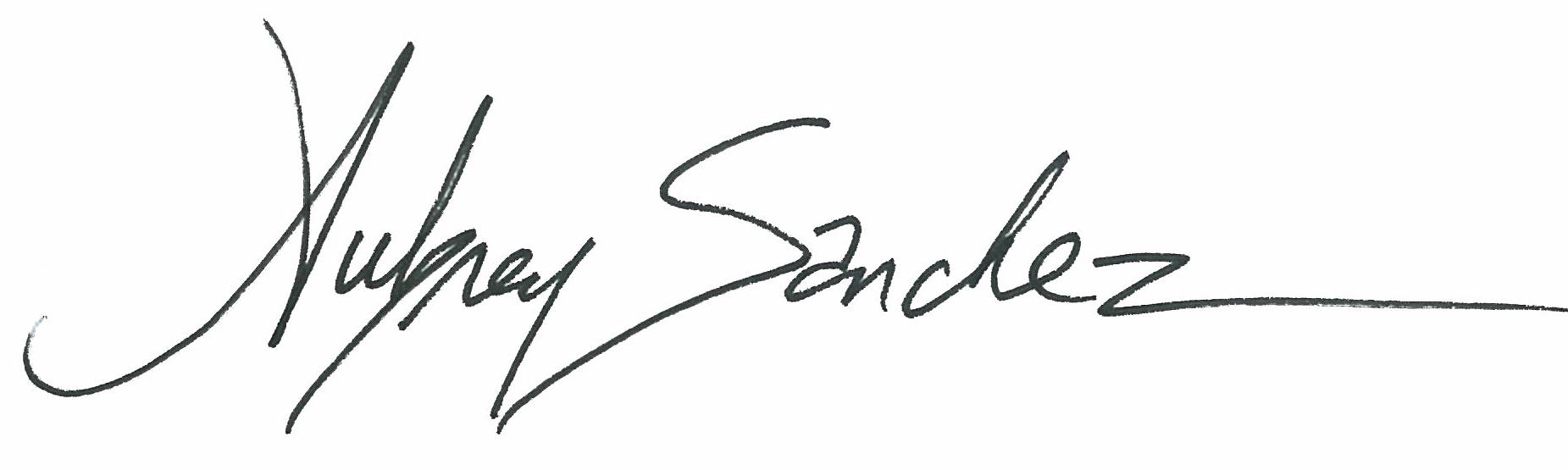 Aubrey Sanchez's Signature