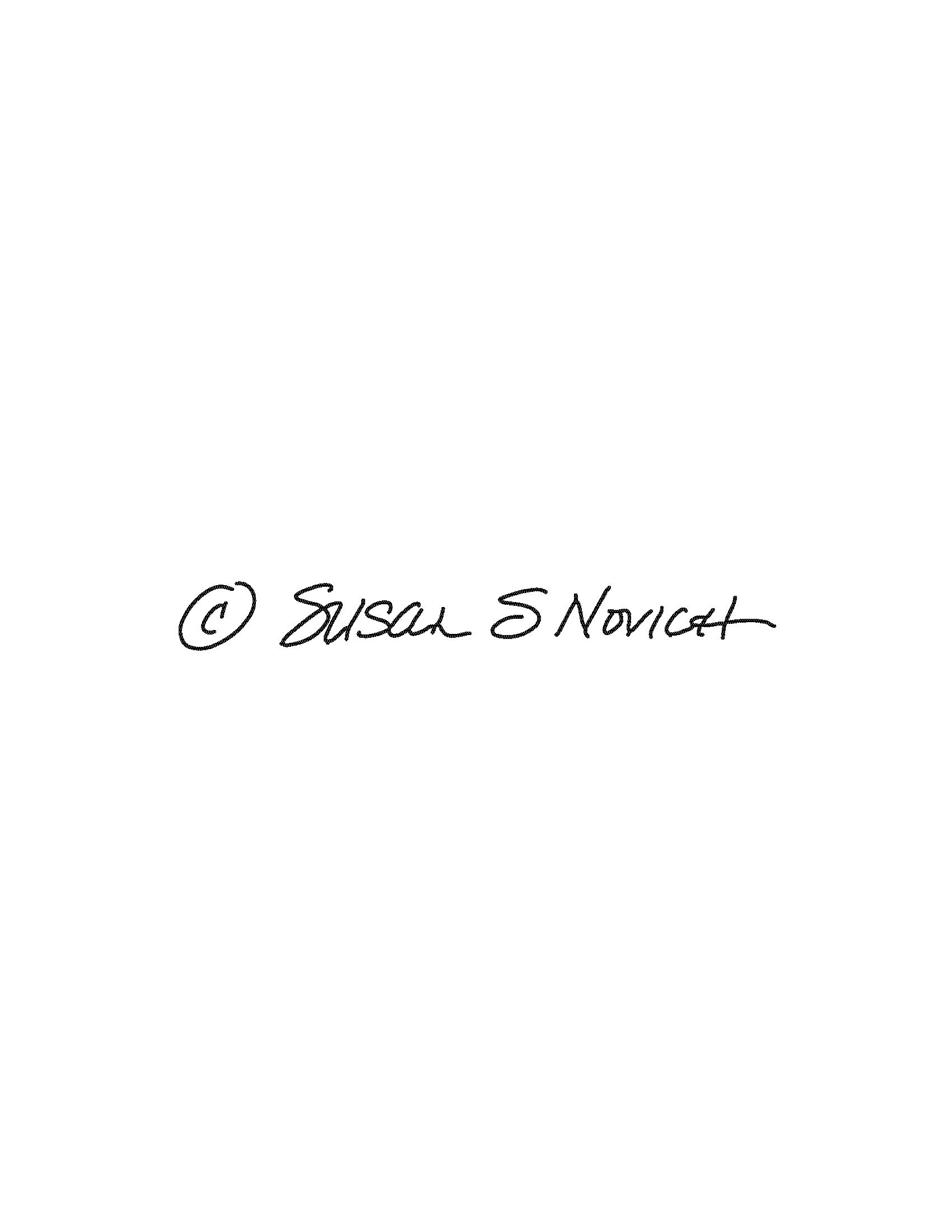 Susan Novich's Signature