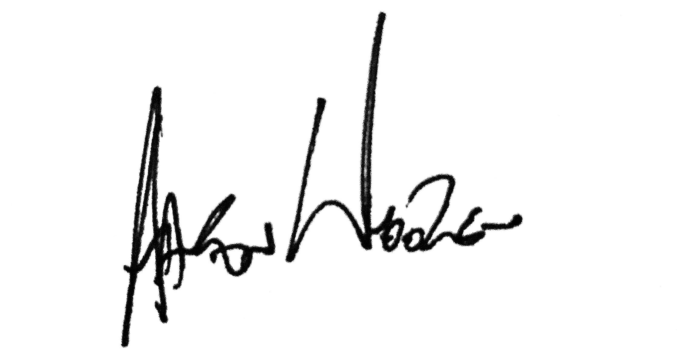 AAron wooten's Signature