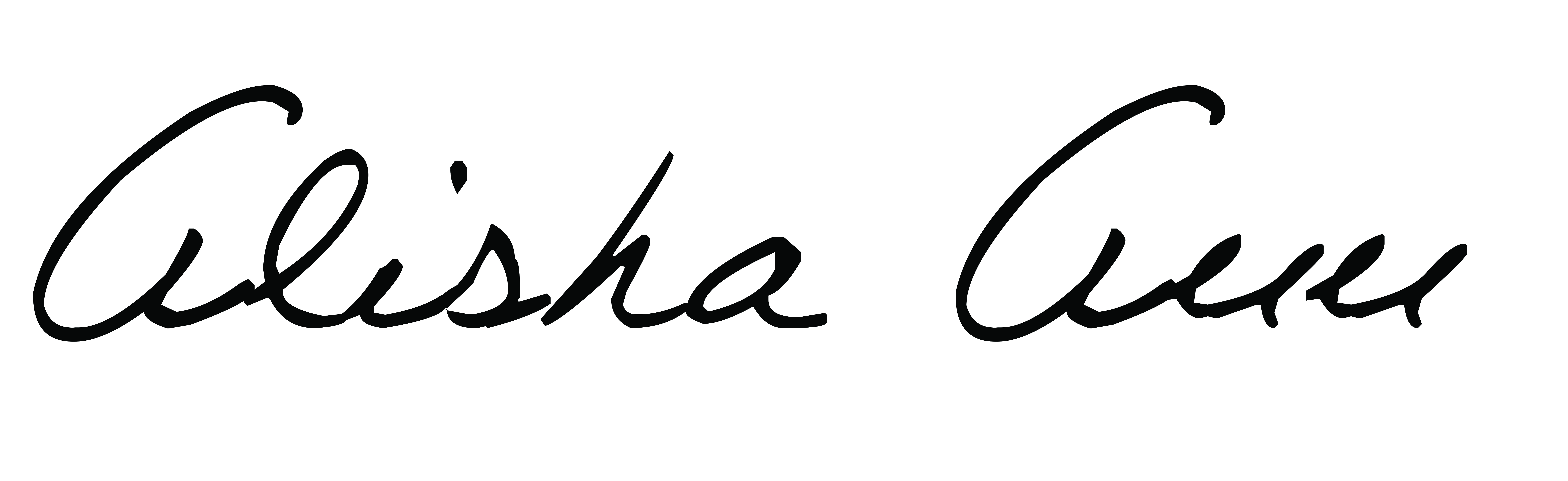 Alisha Boguslowski's Signature