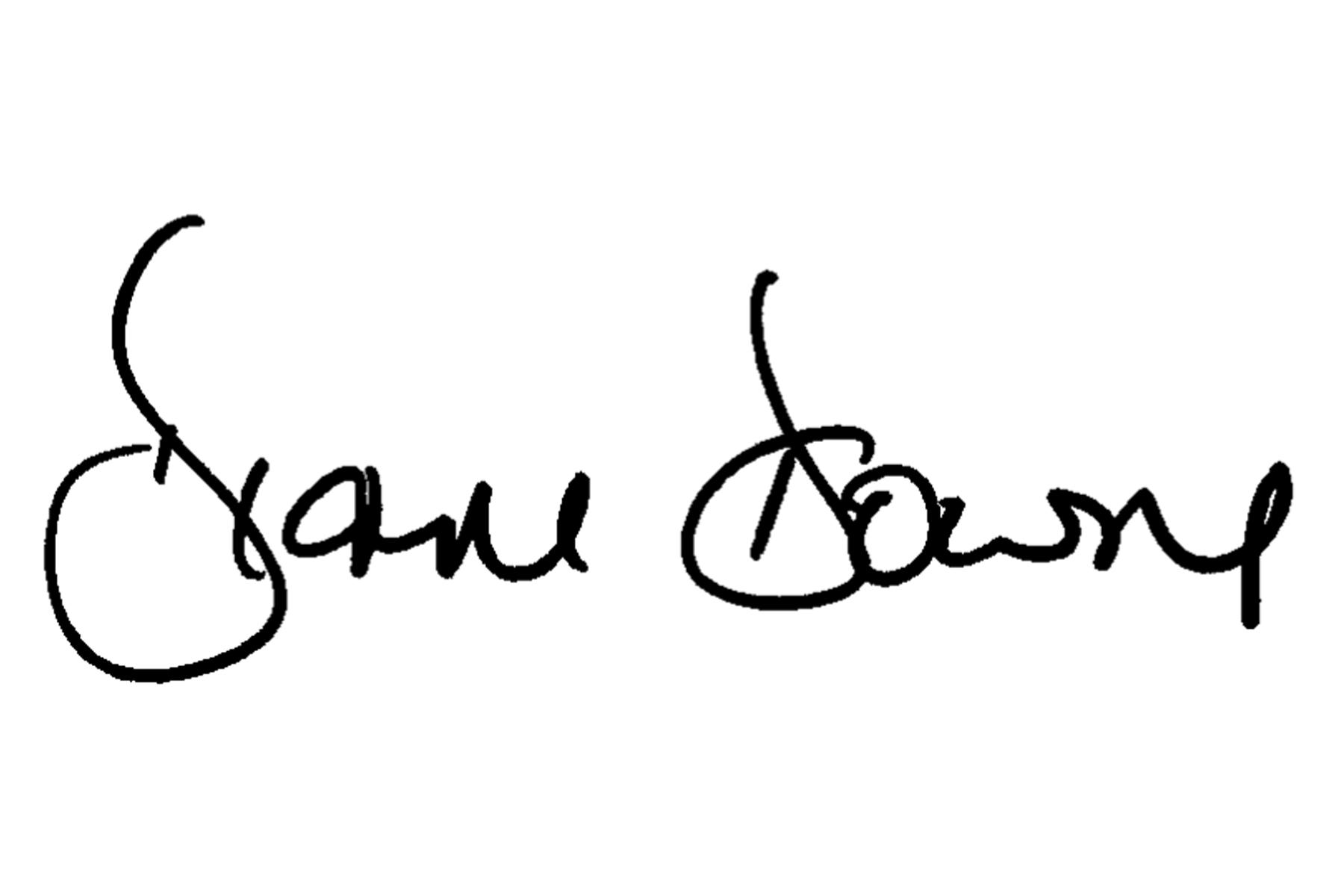 Diane Downs's Signature