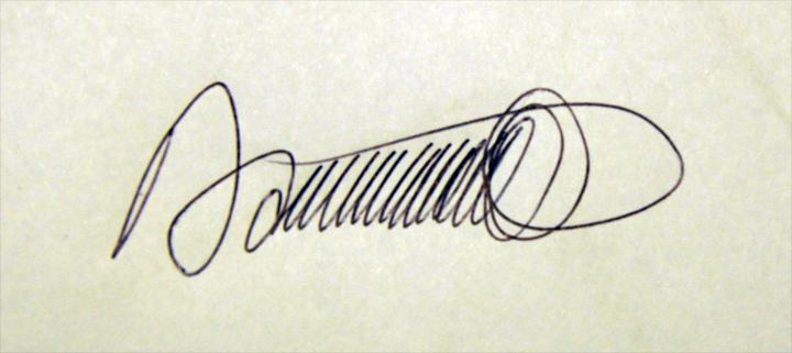 Daniel Jean-Baptiste's Signature
